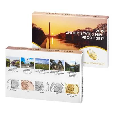 2019 US Mint Proof 9-Coin Set Comm. (w/o Lincoln Penny)