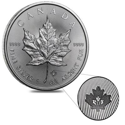 2017 1 oz Silver Canadian Maple Leaf .9999 Fine $5 Coin BU
