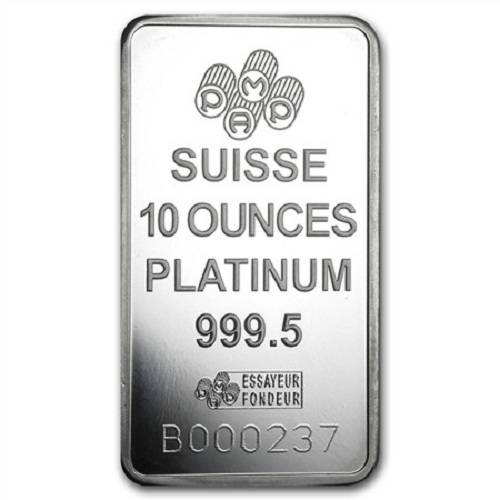 10 Oz Pamp Suisse Lady Fortuna Platinum Bar 999 Fine In Ay
