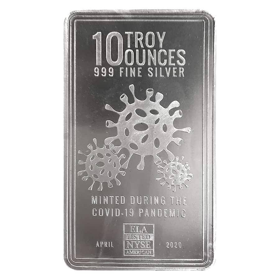 10 Oz Envela Covid Silver Bar 999 Fine Bullion Exchanges
