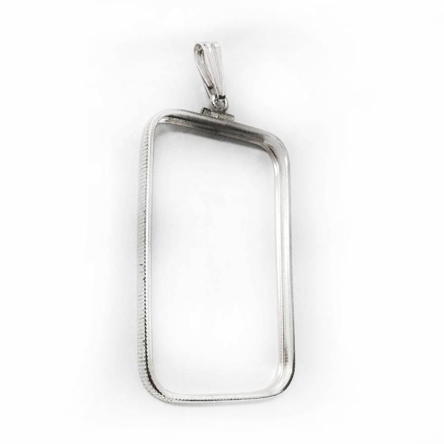 Sterling Silver Screw Top Frame Pendant For 1 Oz Silver Bar