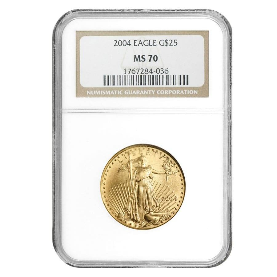 2004 $5 American 1//10 Gold Eagle NGC MS70