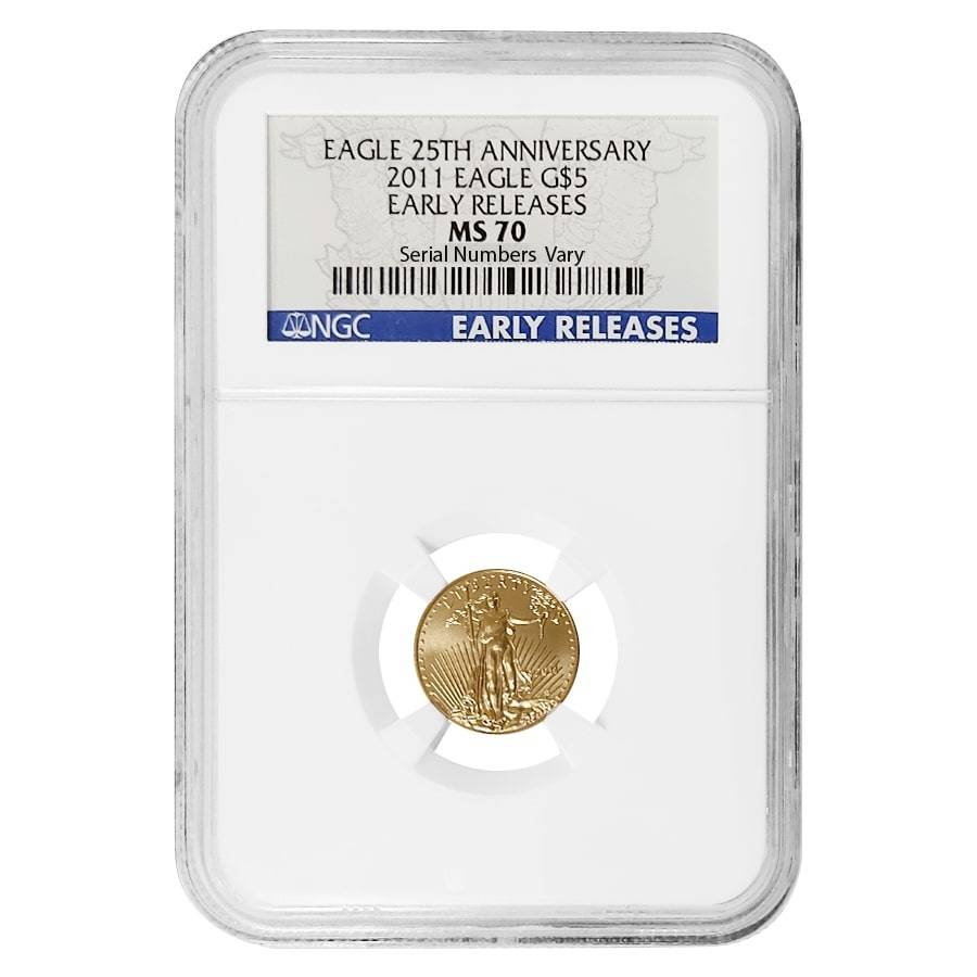 2020 1//10 oz Gold American Eagle $5 NGC MS70 First Day of Issue