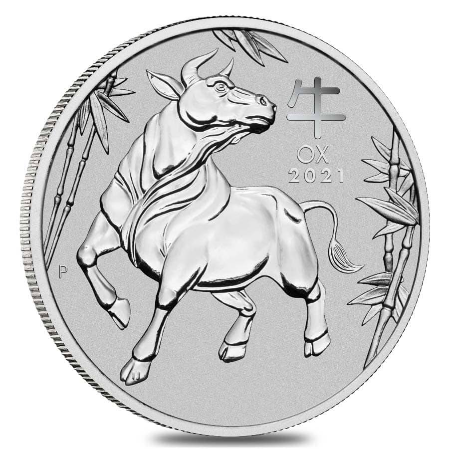2021 Platinum Lunar Year of The Ox coins Perth Mint