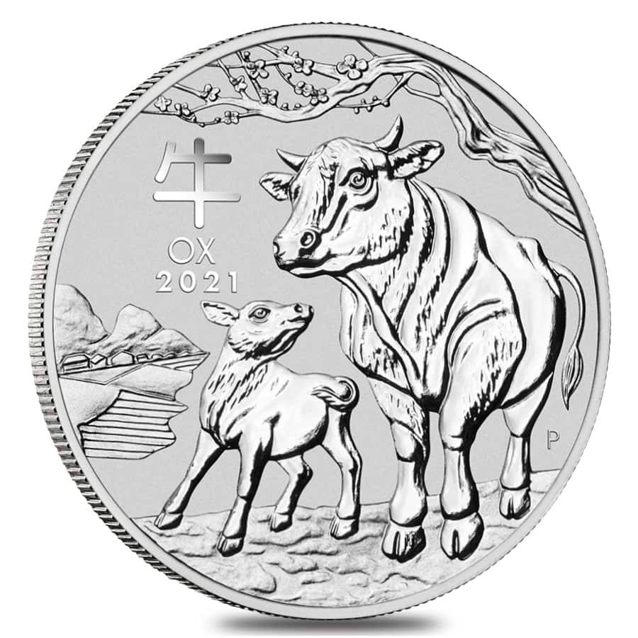 2021 Silver Lunar Year of The Ox Coins Perth Mint Bullion Exchanges