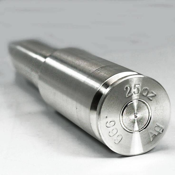 25 Oz 20 Mm Solid Silver Bullet Bullion Exchanges