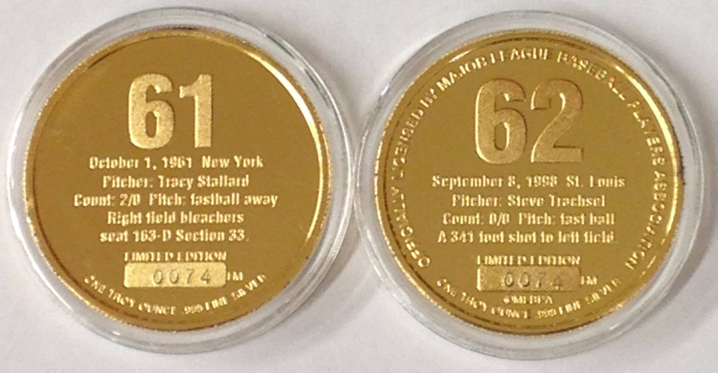 Roger Maris Amp Mark Mcgwire Highland Mint Coin Bullion