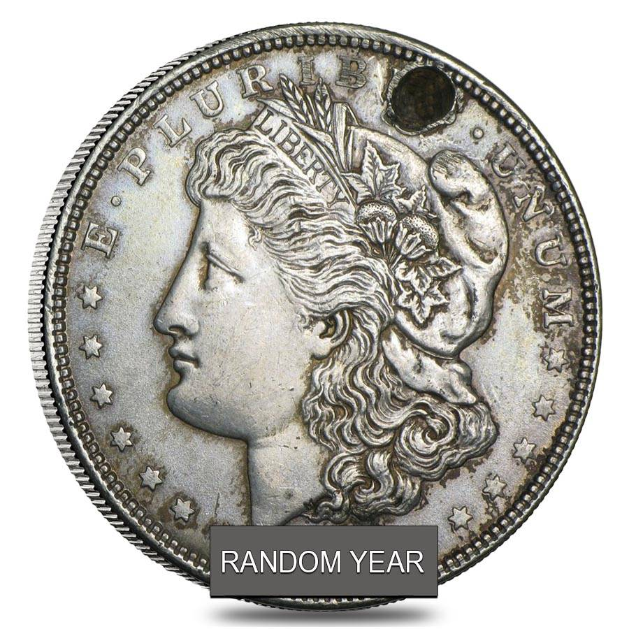 1878 1935 Silver Morgan Peace Dollars Below Cull Random Year