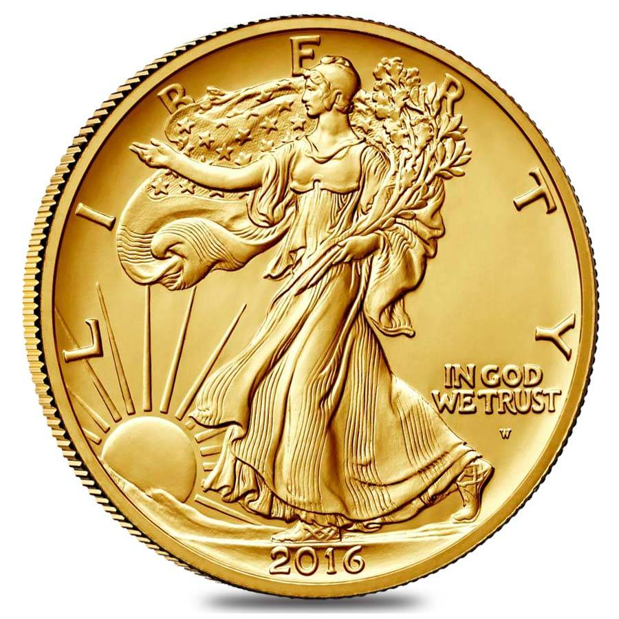2016 1 2 Oz Walking Liberty Half Dollar Centennial Gold