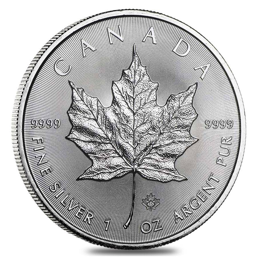 2015 1 Oz Silver Canadian Maple Leaf 9999 Fine 5 Coin