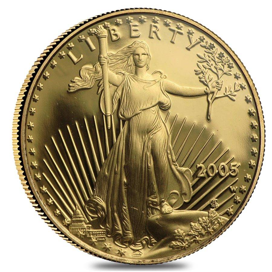 American Eagle $10 Gold ~50 Direct Fit 22 mm Coin Capsule For US 1//4 oz