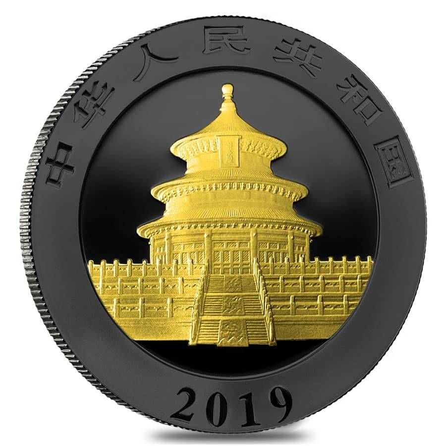2019 Silver Panda 10 Yuan Ruthenium Bullion Exchanges