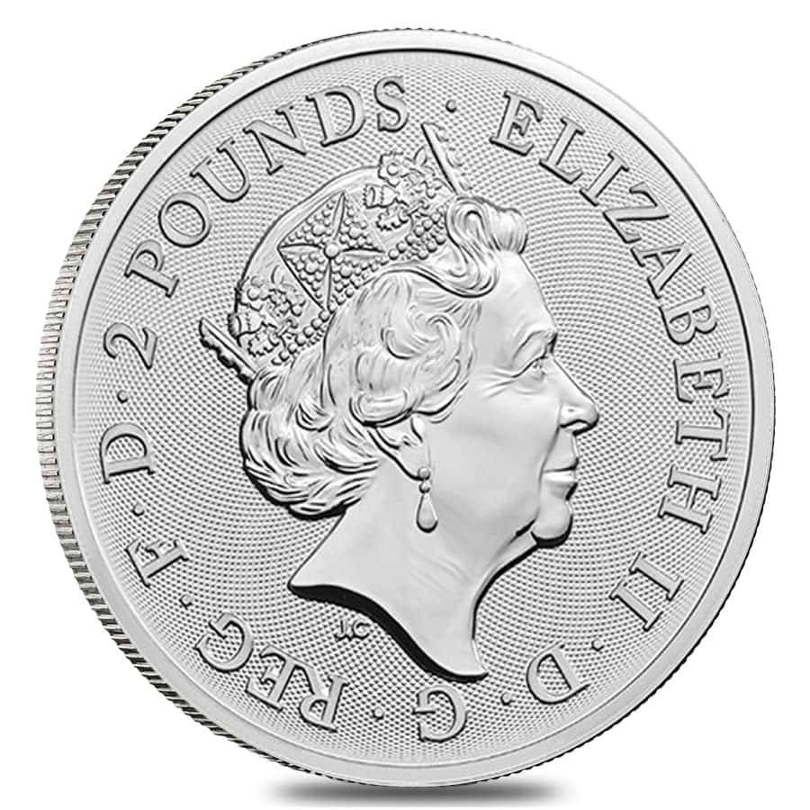 BU 1-2019 Great Britain The Royal Arms- 1 oz 999 Pure Silver Coin in Cap