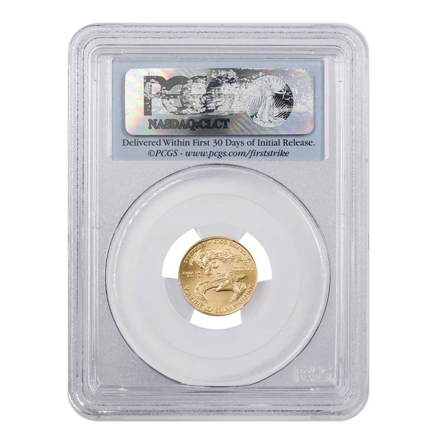 2011 $5 AmericanGold Eagle PCGS MS-70 25th Anniversary First Strike DC
