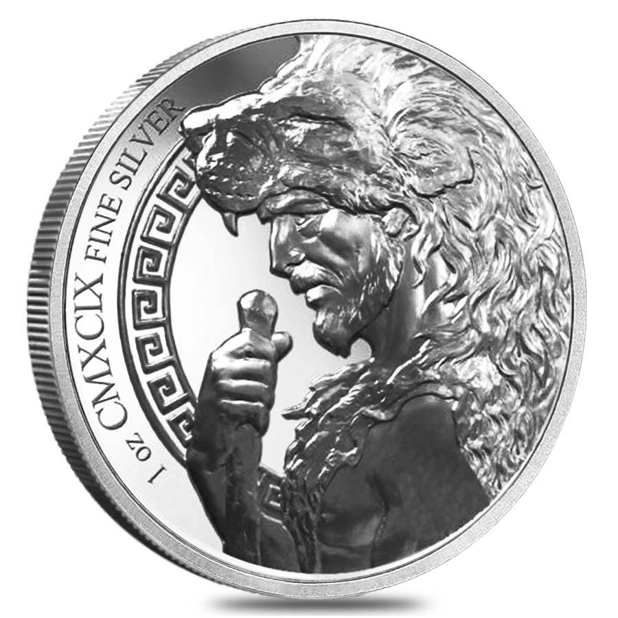 1 Oz Hercules Ninth Labor Girdle Of Hippolyta Silver Round