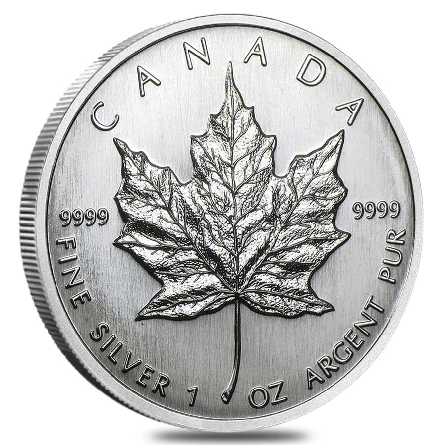 1989 1 Oz Silver Canadian Maple Leaf Coin Sealed