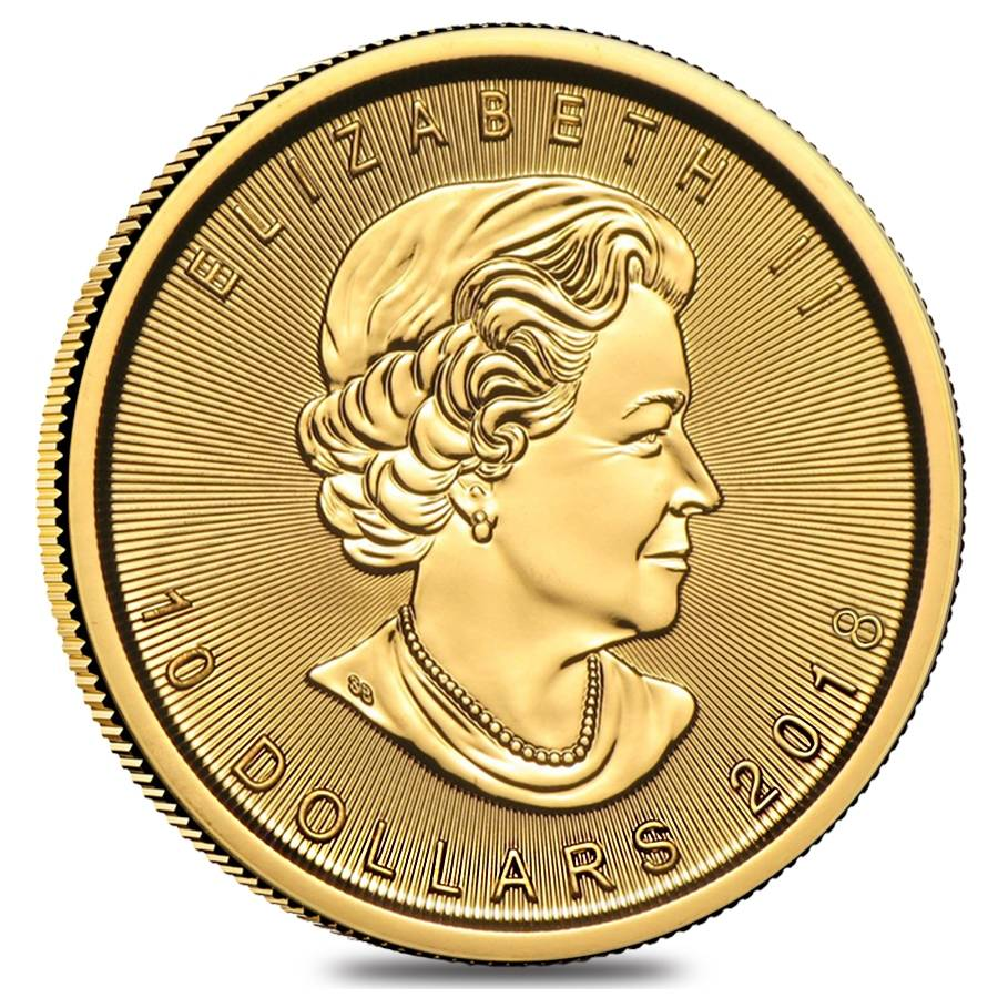 2018 1 4 Oz Canadian Gold Maple Leaf 10 Coin