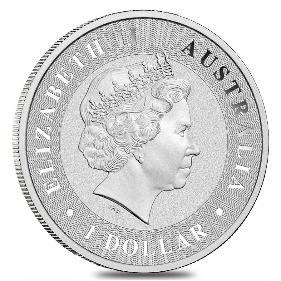 .9999 fine silver oz 2016 Perth Mint Kangaroo coin with case