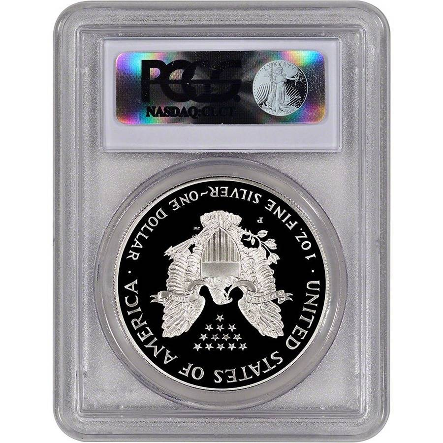 1998 P 1 Oz Silver American Eagle 1 Proof Coin Pcgs Pr 70