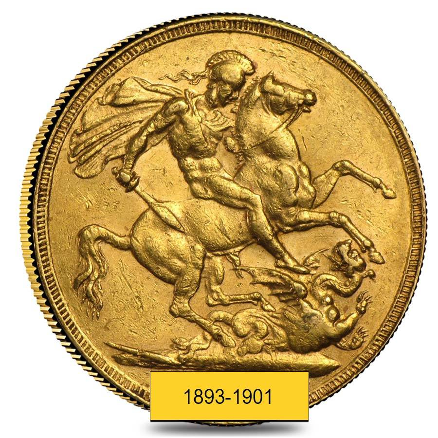 1901 Gold Sovereign Victoria Old Head