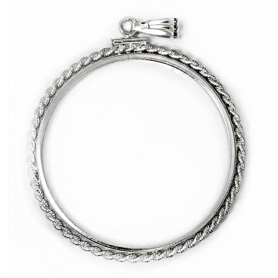 Coin Bezel Rope Edge - Silver Morgan .925 | Bullion Exchanges