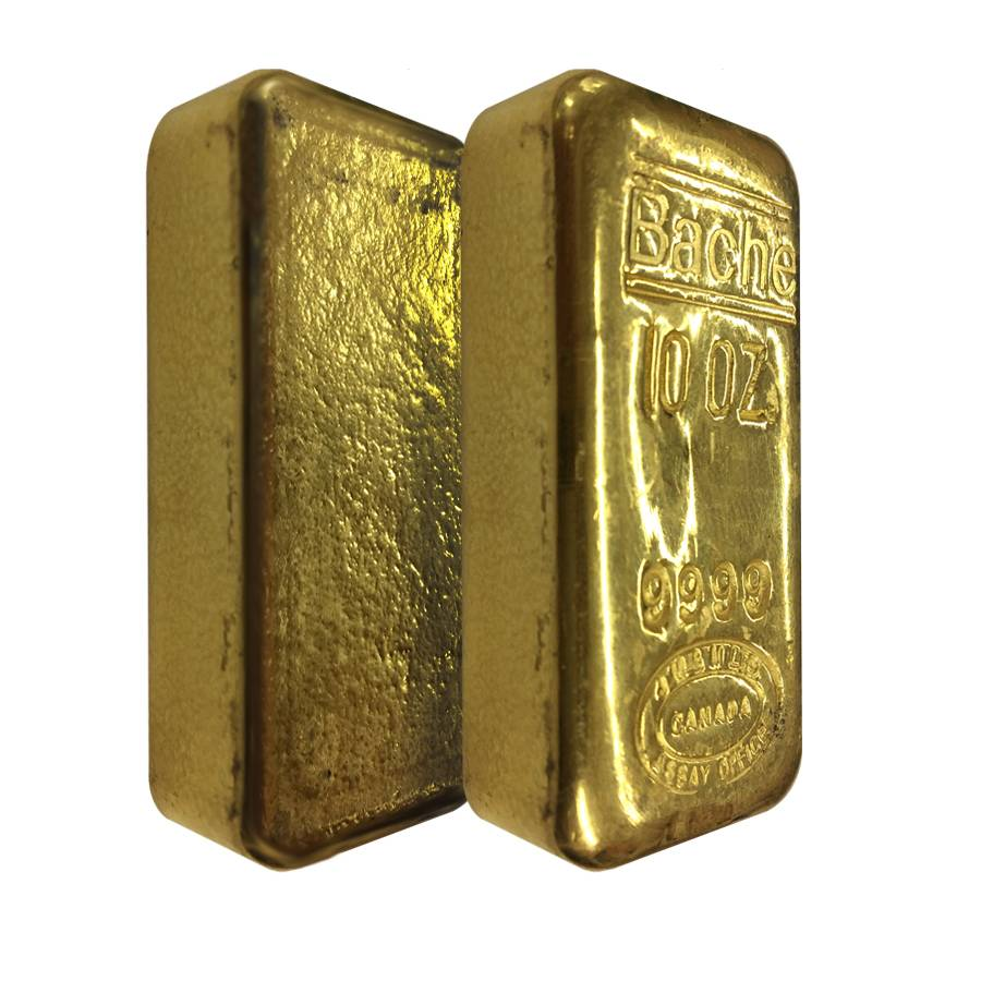 10 oz johnson matthey bache hand poured gold bar. Black Bedroom Furniture Sets. Home Design Ideas