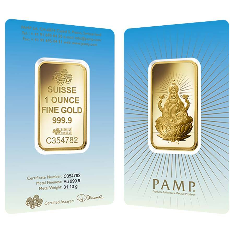 Box Of 25 1 Oz Pamp Suisse Gold Bar Lakshmi In Ay 9999 Fine