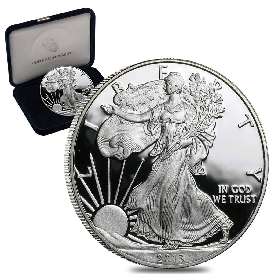 2013 W 1 Oz Proof Silver American Eagle W Box Amp Coa