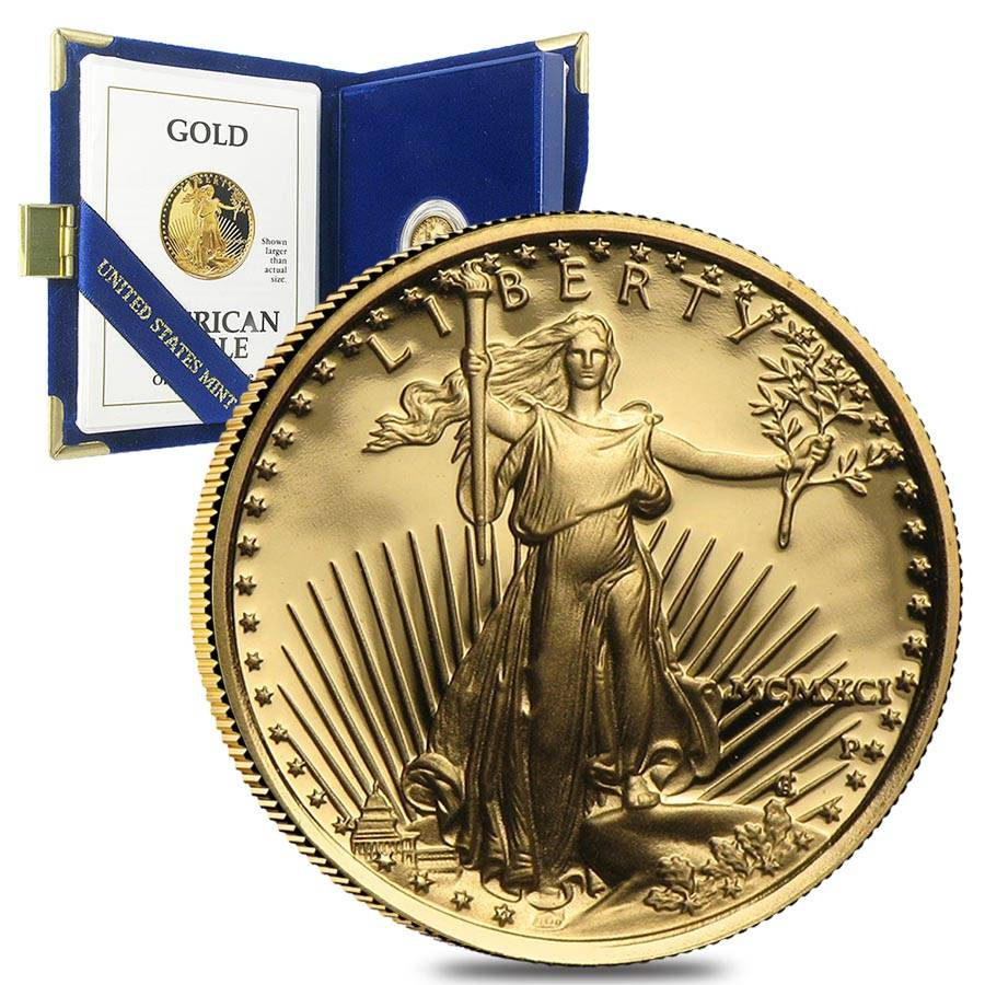 Random Year, w//Box /& COA 1//10 oz Proof Gold American Eagle