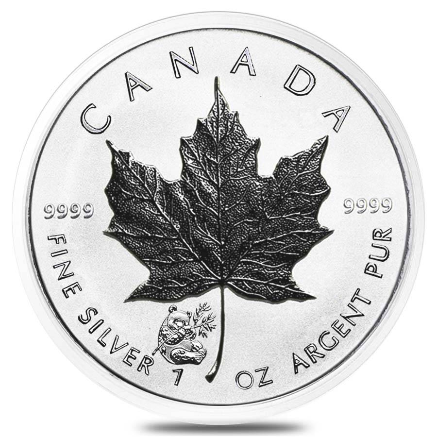 2016 1 Oz Silver Maple Leaf Panda Privy Coin Bullion