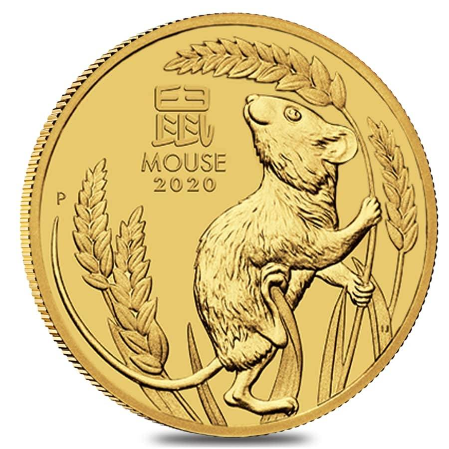 2020 1 4 Oz Gold Lunar Year Of The Mouse Bullion Exchanges