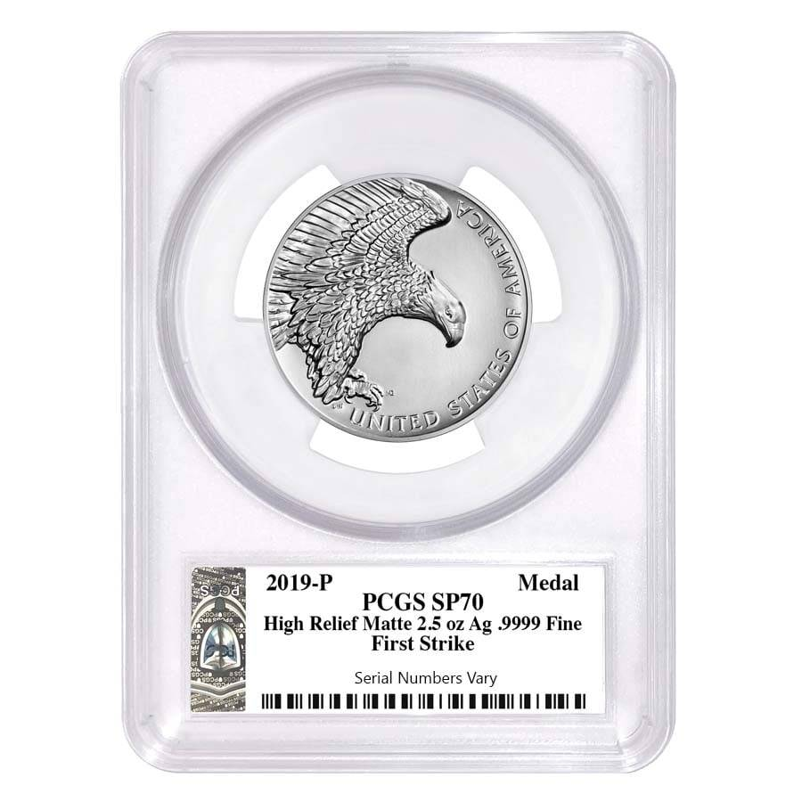 2019 Liberty Silver Medal Pcgs Sp 70 Lib Bullion Exchanges