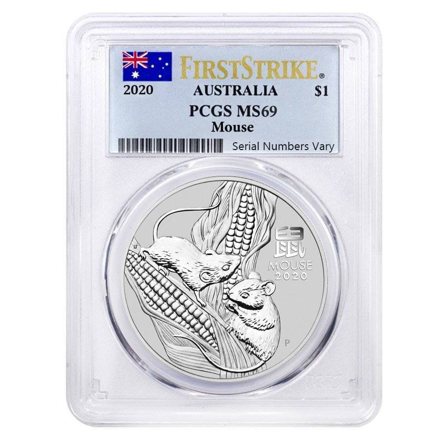 2020 P Australia Silver Lunar Year of the MOUSE NGC MS 70 1oz $1 Coin Series III