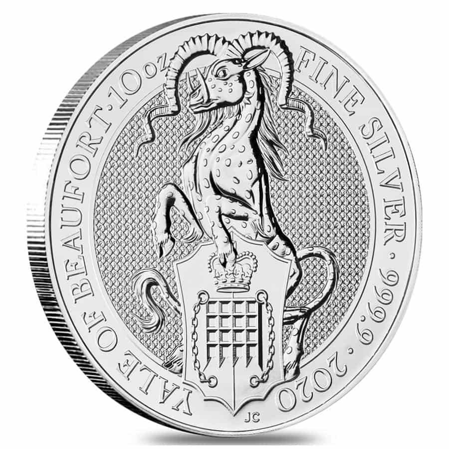 Coin .9999 2019 Great Britain 10 oz Silver Queen/'s Beasts Unicorn of Scotland