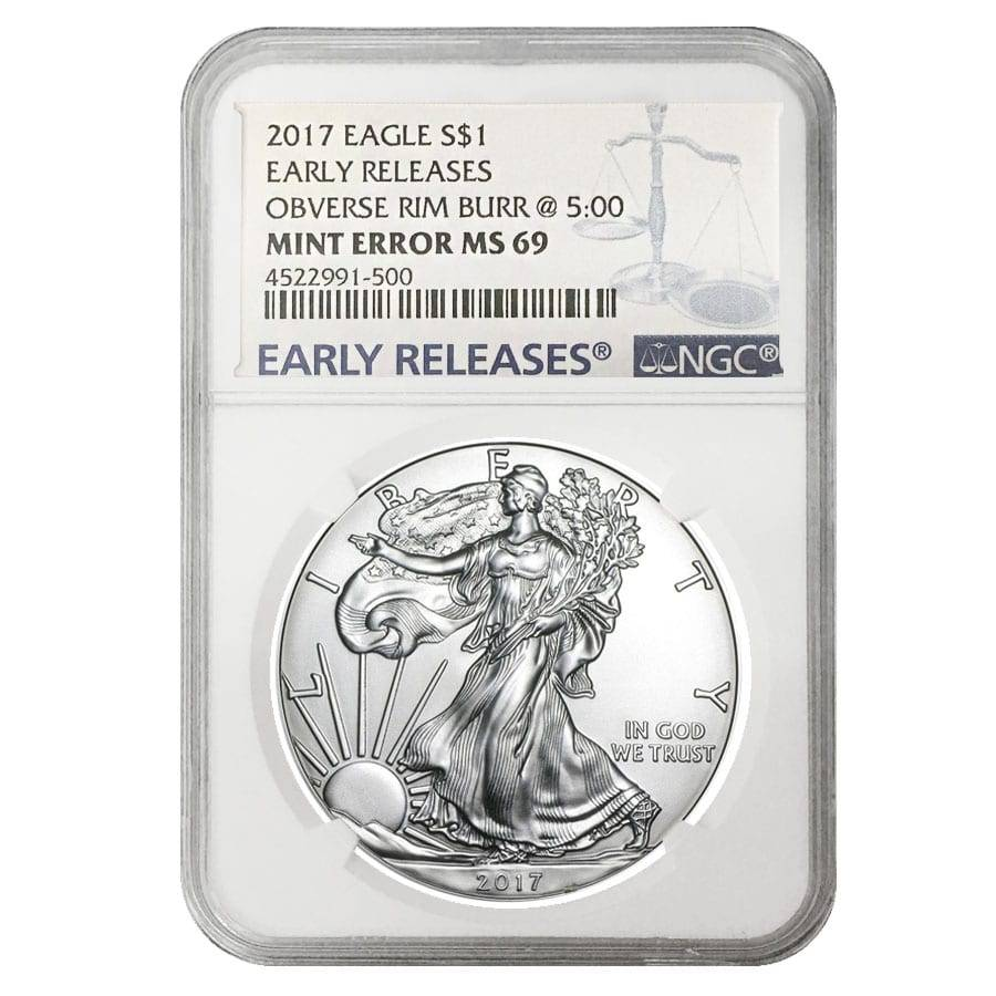 2017 Silver American Eagle MS-69 NGC Early Releases
