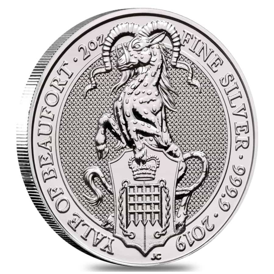 2019 Silver Queen/'s Beast Yale 2 oz Royal Mint Coin