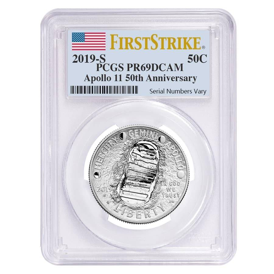 2019 S Apollo 11 Clad Coin Half Dollar Proof NGC PF69 Early Releases