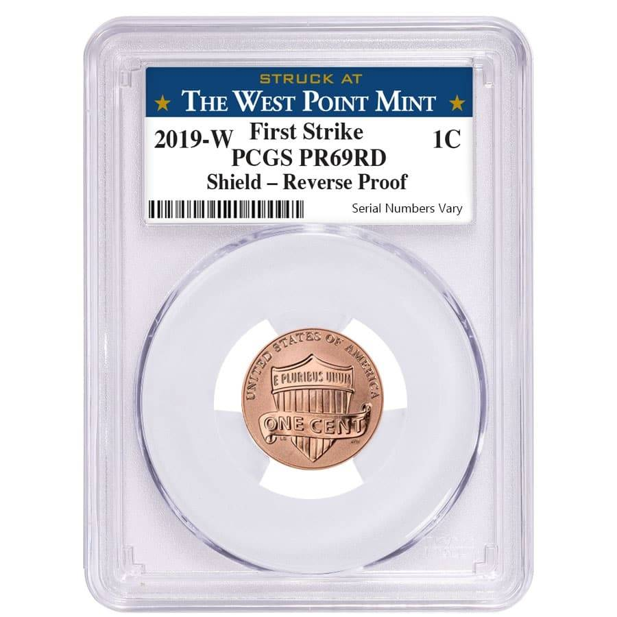 """2019-W LINCOLN First /""""W/"""" REVERSE PROOF CENT FIRST STRIKE PCGS PR69RD"""