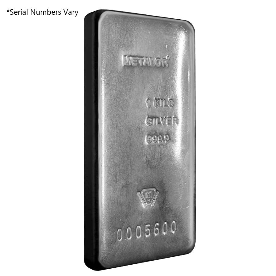 1 Kilo Metalor Silver Bar 9999 Fine