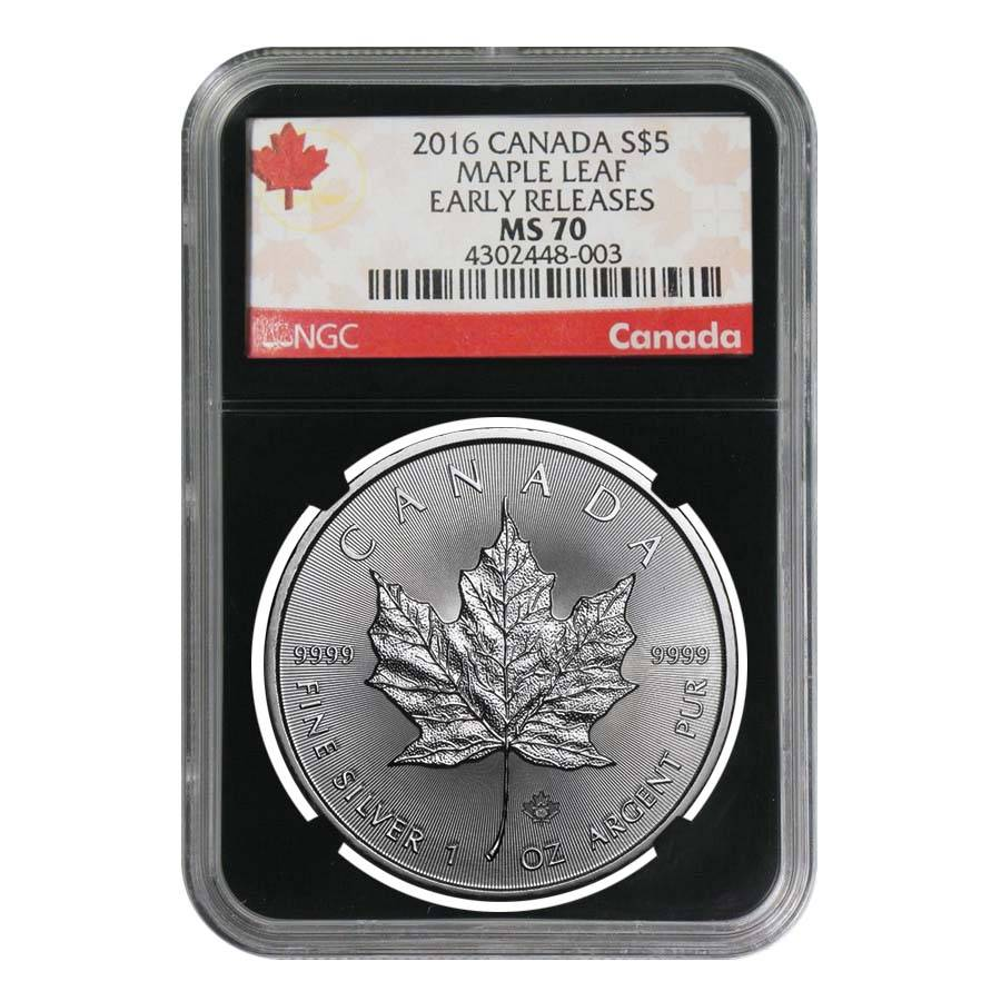 2016 1 Oz Maple Leaf Silver Coin Ngc Ms 70 Bullion Exchanges