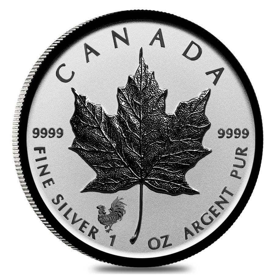 2017 Silver Maple Leaf Lunar Rooster Privy Bullion Exchanges