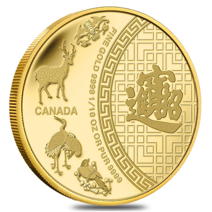 Five Blessings 2014 1 10 Oz Gold Canadian Coin Sealed