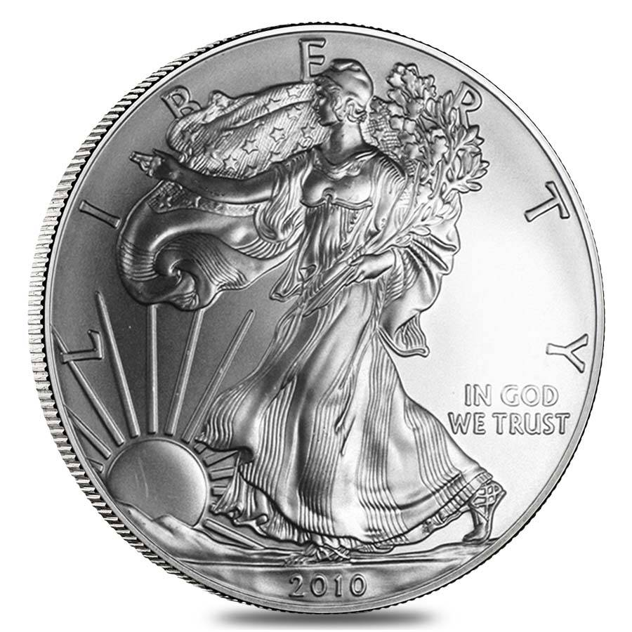 Roll Of 20 2010 1 Oz Silver Eagle Coin Bu Bullion