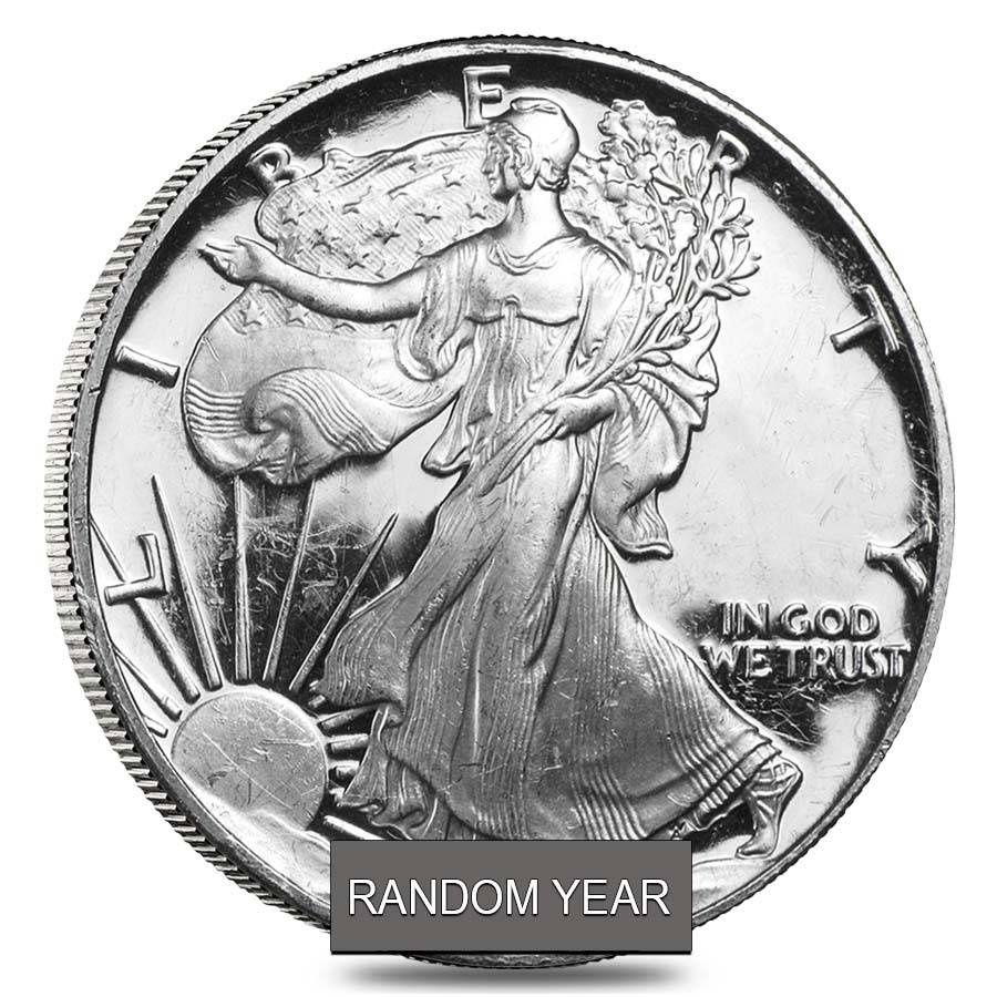 1 Oz Proof Silver American Eagle In Capsule Abrasions