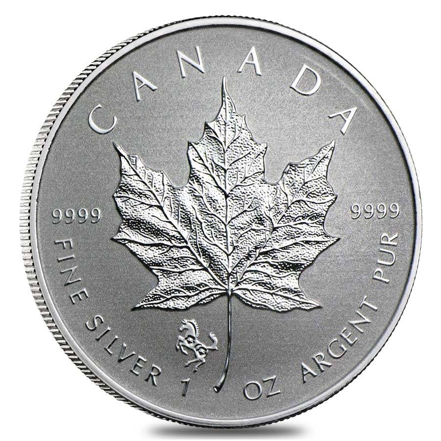 2014 1 Oz Canadian Silver Maple Leaf Horse Privy