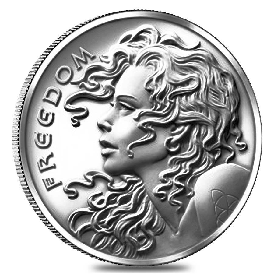 2013 1 Oz Freedom Girl Silver Round Bullion Exchanges