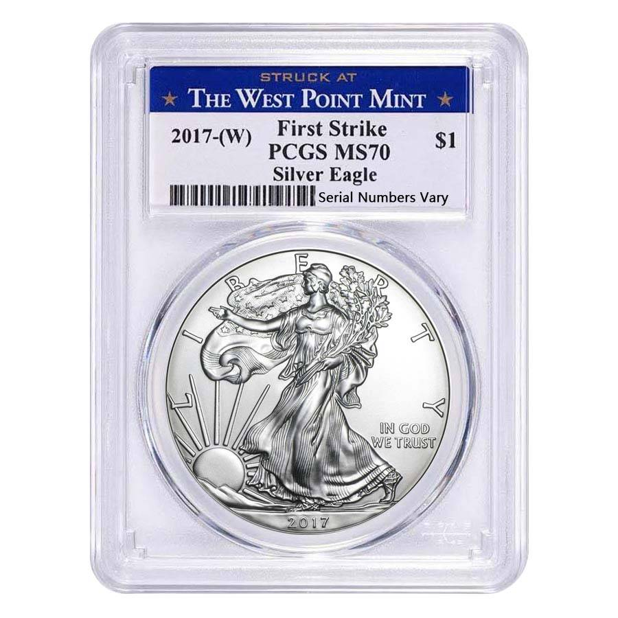 2017 W 1 Oz Silver American Eagle Coin Pcgs Ms 70 Fs Wp