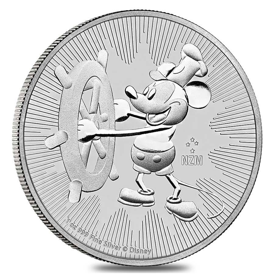 2017 Niue Steamboat Willie Mickey Mouse       1 Oz .999 Silver BU White Holder
