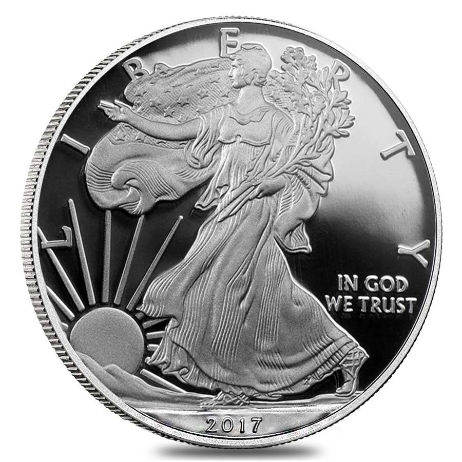 2017 W 1 Oz Proof Silver American Eagle W Box Amp Coa