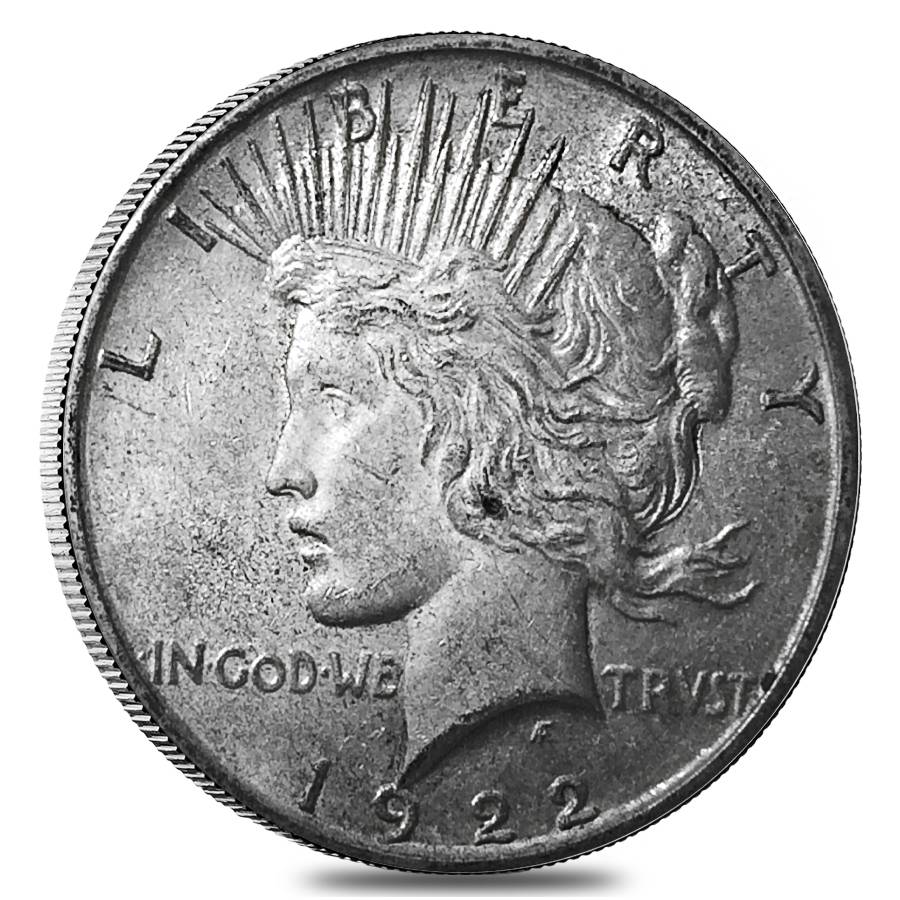 1922 D Silver Peace Dollar Au Bullion Exchanges